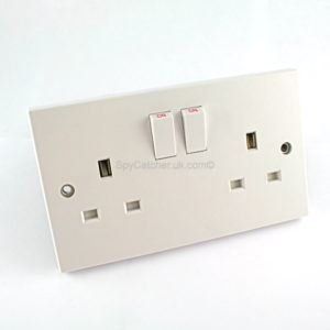 GSM Bug-Double UK Mains Socket