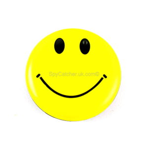 Smiley Face Badge Spy Video Camera