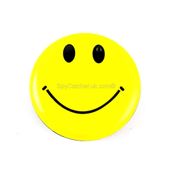 Smiley Face Badge Spy Video Camera
