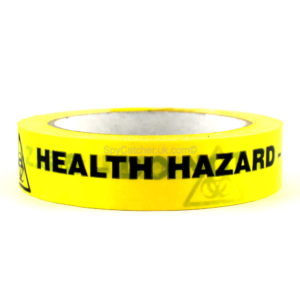 Health Hazard - Do Not Touch Adhesive Warning Tape-0