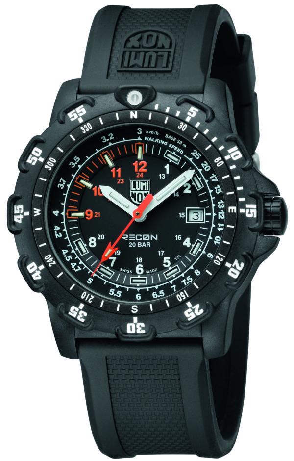 Luminox Black Dial Navigation Watch, 8821km Dive -0