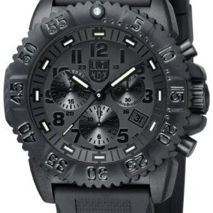 Luminox Black Dial and Face, 3081BO Navy Seal Dive Chronograph-0