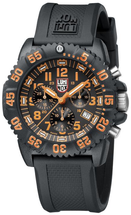 Luminox Orange Dial, 3089 Men's Dive Chronograph Watch-0
