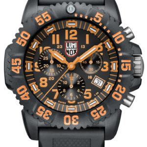 Luminox Orange Dial, 3089 Men's Dive Chronograph Watch-5330