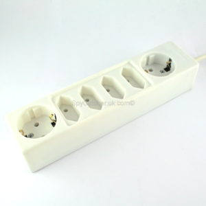 Recording 6 Way European Socket Strip-5360