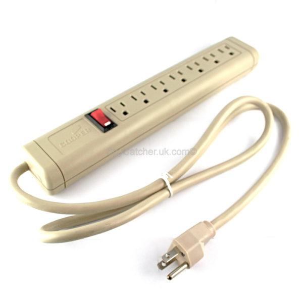 Recording US 7 Way 110v Socket Strip-0