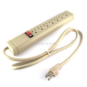 GSM Bug-7 Way US Socket Strip F