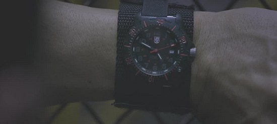 Sylvester Stallone wearing a Luminox watch in the film Escape Plan.