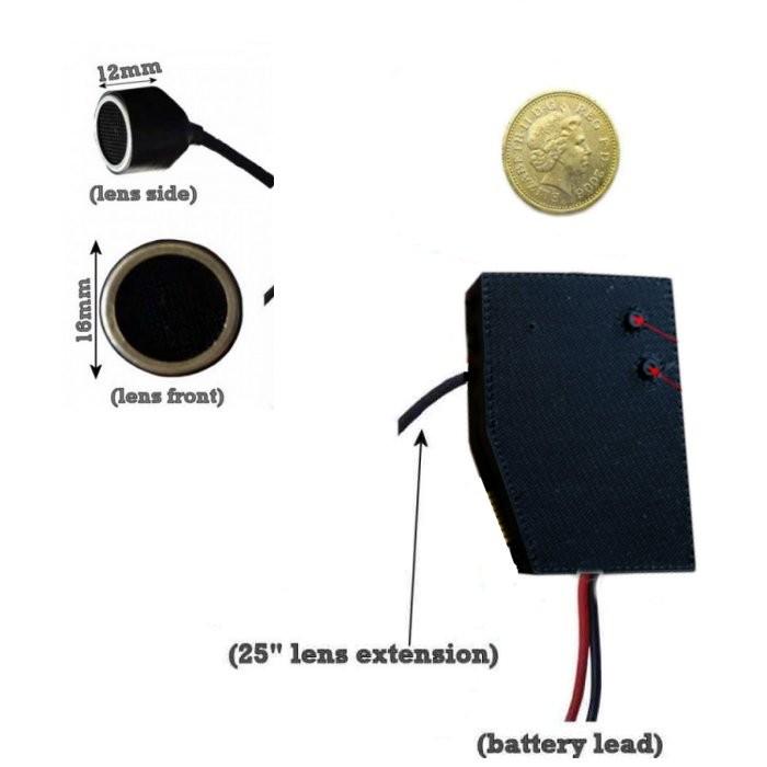 Hidden Car Mic/Transducer Sensor Camera Module